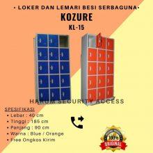 Lemari Arsip Loker Locker Besi Kozure 15 Pintu KL-15 Filling Cabinet