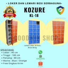 Lemari Arsip Locker / Loker Besi Kozure 18 Pintu KL-18 – Filling Cabinet / Biru