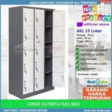 Lemari Loker Locker Cabinet 15 Pintu Full Besi AKL 15
