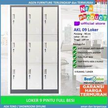 Promo Lemari Loker Locker Cabinet 9 Pintu Full Besi AKL 09