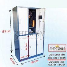 Lemari loker besi 6 pintu karyawan, lemari Atlit, lemari Asrama Emporium EL 06