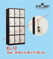 Lemari Loker (Locker Besi) 12 Pintu EL-12 Conceal Mandiri