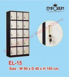 Lemari Loker (Locker Besi) 15 Pintu EL-15 Conceal Mandiri