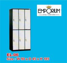 Lemari Loker (Locker Besi) 6 Pintu EL-6 Conceal Mandiri